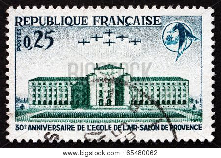 Postage Stamp France 1965 Air Academy And Emblem