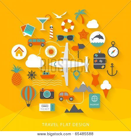 Travel flat design illustration