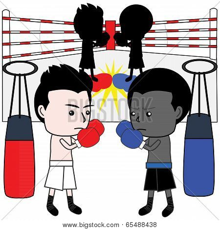 Boxing Cartoon Vector