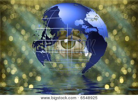 Eye Peers Through Earth