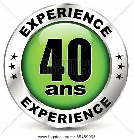 Forty Years Experience Icon