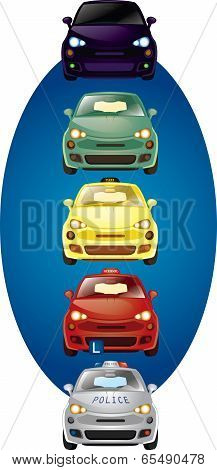 Set of vector cars illustration