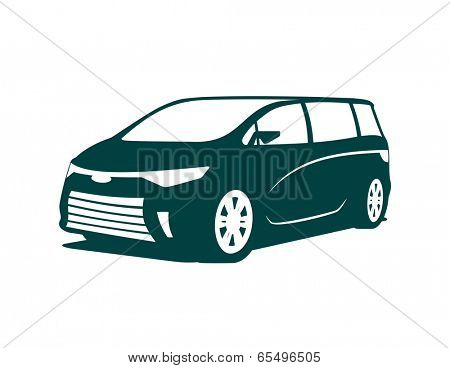 An illustration of concept of minivan icon