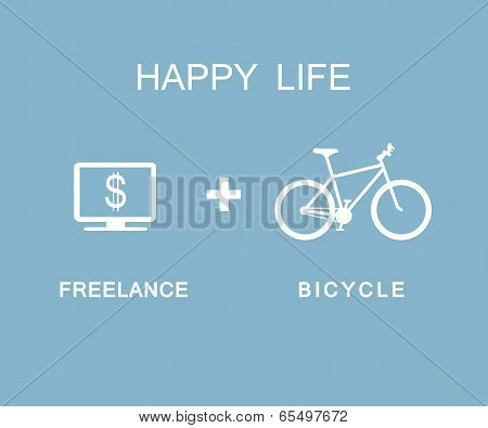 Freelance and Bicycle infographic
