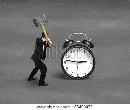 Using Sledge Hammer To Hit Alarm Clock