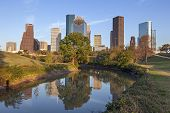 image of bayou  - A View Buffalo Bayou and Downtown Houston - JPG