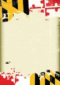 pic of maryland  - A poster with a large scratched frame and a grunge flag of Maryland for your publicity - JPG
