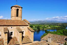 foto of cardo  - Esglesia Vella Church and Ebro River in Miravet - JPG
