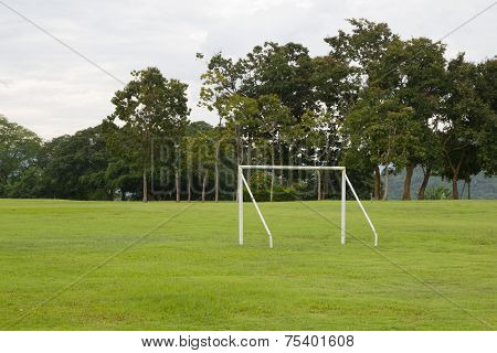 View Of Soccer Pitch