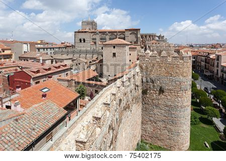 Ancient Wall Of Avila, Spain