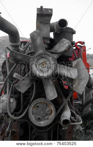 Scrapped Engine