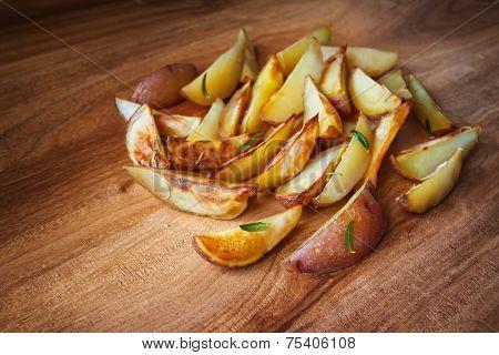 Baked potato with rosemary