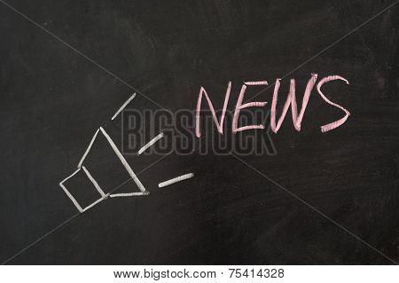 News Word With Loud Speaker
