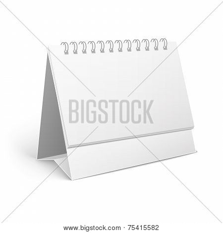 paper spiral desk calendar