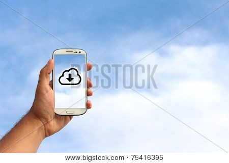 Mobile Phone In The Cloud