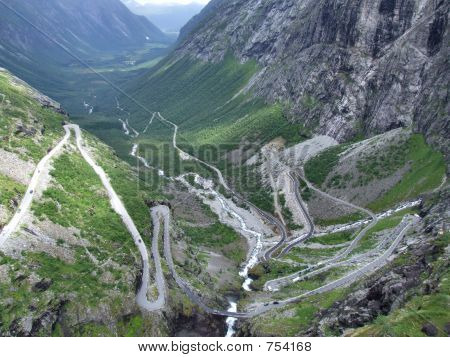 Trollstigen - tortuous mountain road