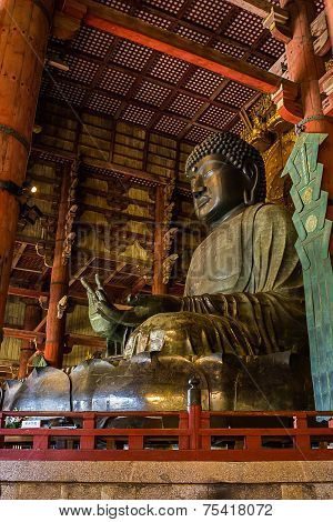 Great Buddha At Todai-ji Temple.