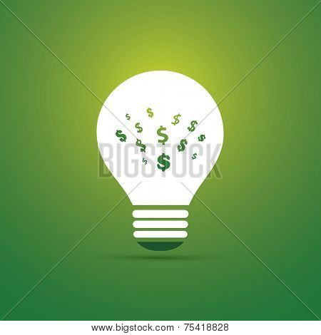 Green Eco Energy Concept Icon - Save Money with Green Energy