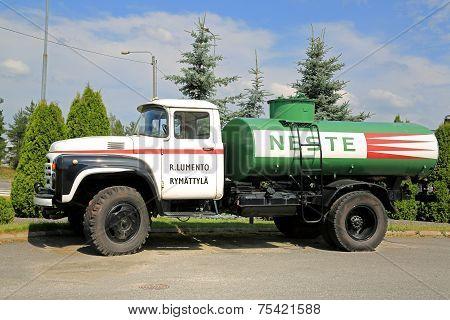 Vintage Zil 130 Tank Truck On A Yard