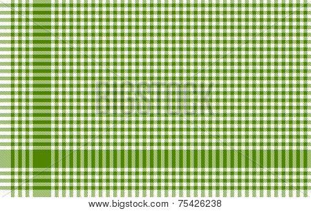 Checkered Tablecloths Pattern - Green