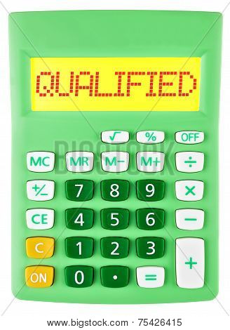 Calculator With Qualified Isolated