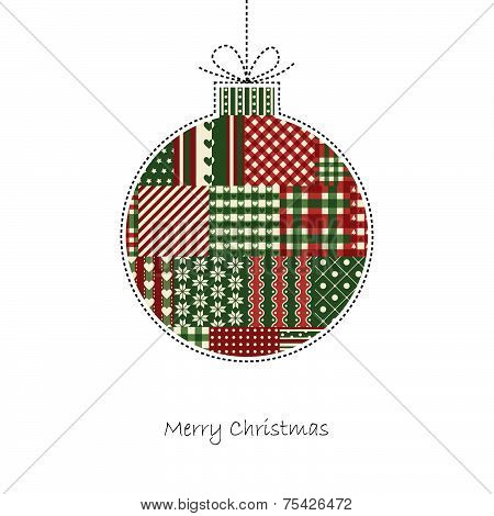 Christmas Ball - Christmas Card Vector