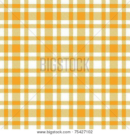 Checkered Tablecloths Pattern - Endless - Yellow