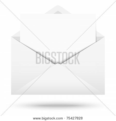 White Envelope With White Note