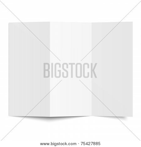 Brochure - Blank Sheet Of White Paper - Folded