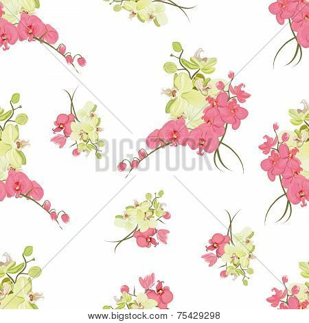Rococo style seamless background