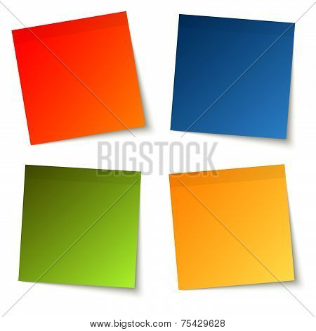 Collection Of Colored Adhesive Notes