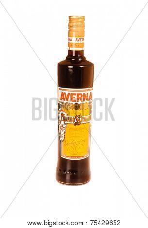 Hayward, Ca - October 28, 2014: Bottle of Averna a Sicilian aperitiv