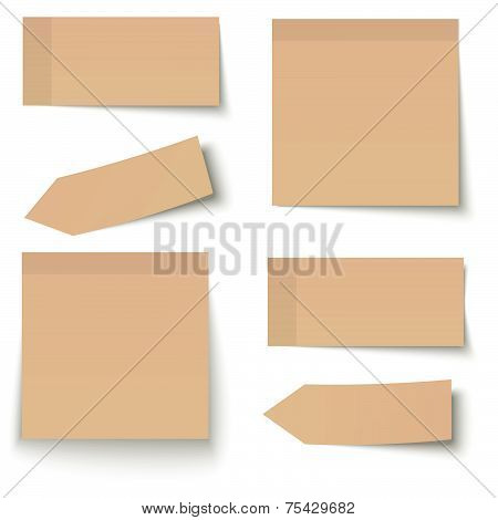 Collection Of Adhesive Notes Brown