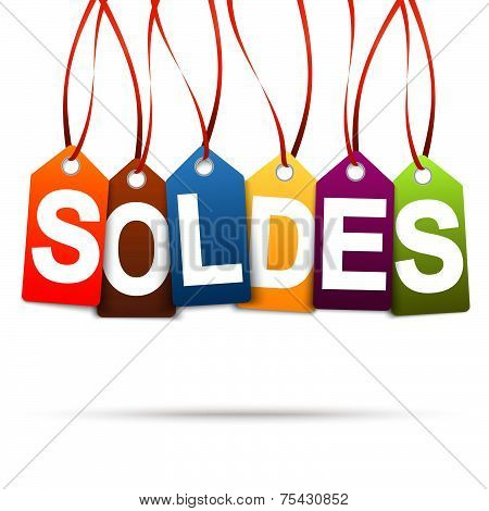 Six Colored Hangtags With Soldes