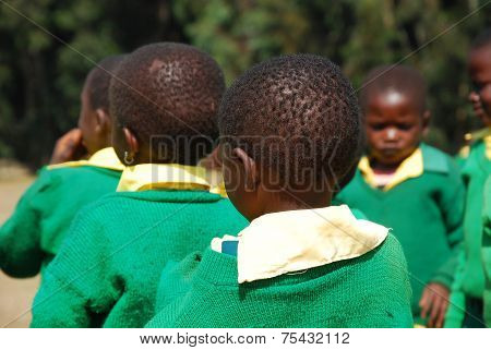 The play of the children of the Kindergarten of The Village Of Pomerini-Tanzania-Africa