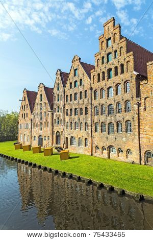 Salzspeicher (salt Storehouses) In Luebeck, Germany