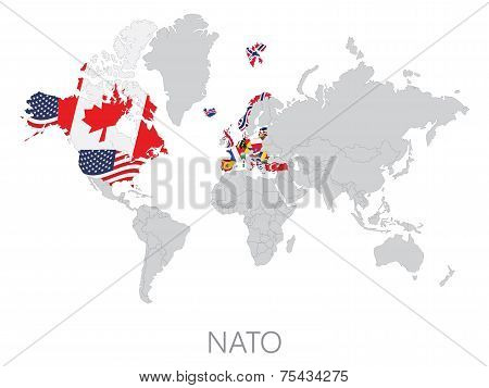 Nato on world map
