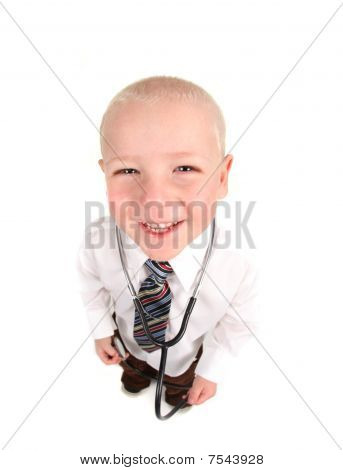 Child Doctor Smiling With Stethoscope