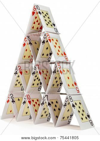 House Of Cards isolated on white