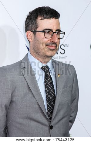 NEW YORK, NY - NOVEMBER 05: Comedian John Oliver attend 2014 Stand Up For Heroes at Madison Square Garden on November 5, 2014 in New York City.