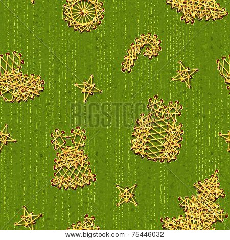 Vector seamless Christmass pattern with same symbols