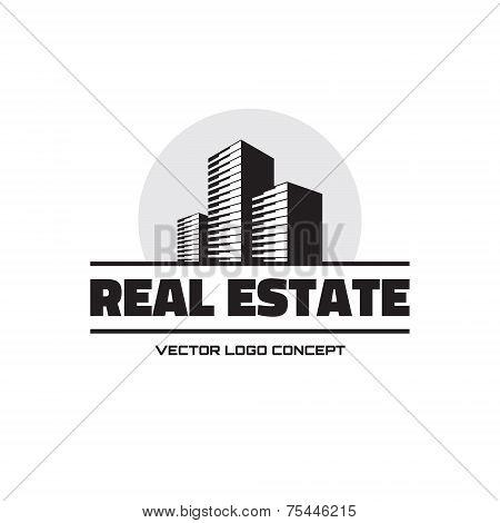 Real Estate - vector logo concept design