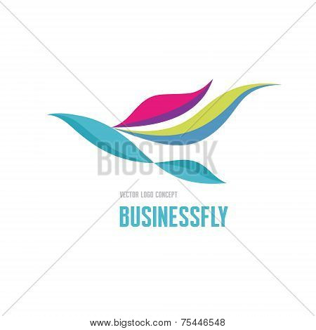 Businessfly - vector logo concept