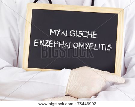 Doctor Shows Information: Myalgic Encephalomyelitis In German