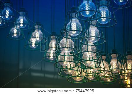 Modern Led Lamps In Metal Lampshades