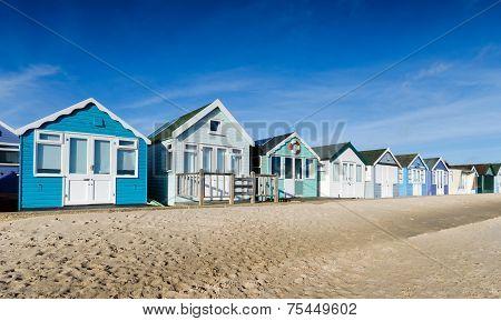 Beach Huts At Mudeford Spit