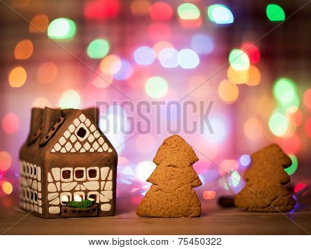 fairy Christmas house cake