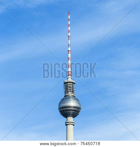 The Fernsehturm (tv Tower) In Berlin, Germany