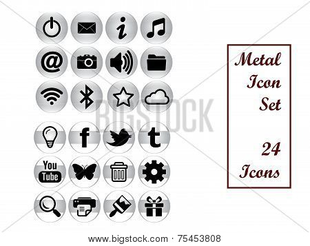Metal Icon Set (24)