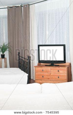 The big TV in a bedroom